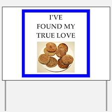 true love food joke Yard Sign