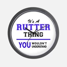 RUTTER thing, you wouldn't understand! Wall Clock