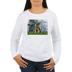 Lilies 1 / Border T Women's Long Sleeve T-Shirt