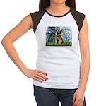 Lilies 1 / Border T Women's Cap Sleeve T-Shirt
