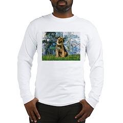 Lilies 1 / Border T Long Sleeve T-Shirt
