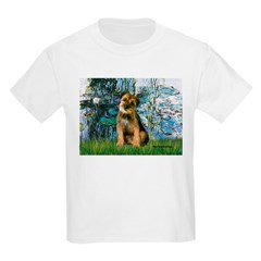 Lilies 1 / Border T Kids Light T-Shirt