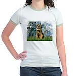 Lilies 1 / Border T Jr. Ringer T-Shirt