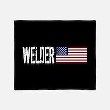 Careers: Welder (U.S. Flag) Throw Blanket