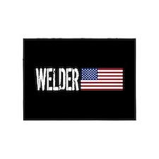 Welder: U.S. Flag 5'x7'Area Rug