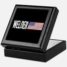 Careers: Welder (U.S. Flag) Keepsake Box