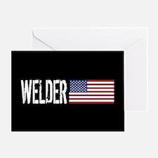 Careers: Welder (U.S. Flag) Greeting Card