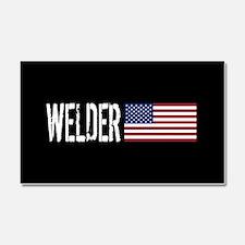 Careers: Welder (U.S. Flag) Car Magnet 20 x 12