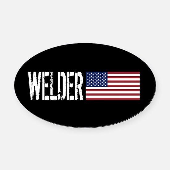 Careers: Welder (U.S. Flag) Oval Car Magnet