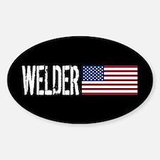Careers: Welder (U.S. Flag) Sticker (Oval)