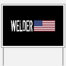 Careers: Welder (U.S. Flag) Yard Sign