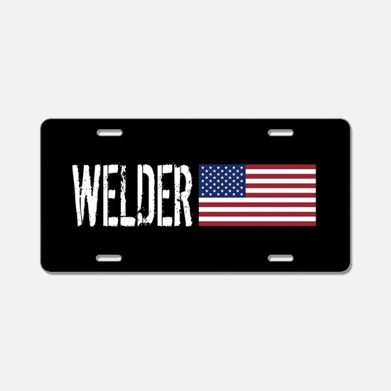Careers: Welder (U.S. Flag) Aluminum License Plate