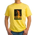 Mid Eve/Border T Yellow T-Shirt
