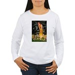 Mid Eve/Border T Women's Long Sleeve T-Shirt