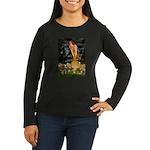 Mid Eve/Border T Women's Long Sleeve Dark T-Shirt