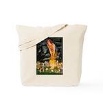 Mid Eve/Border T Tote Bag