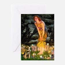 Mid Eve/Border T Greeting Cards (Pk of 10)