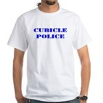 The Cubicle Police White T-Shirt
