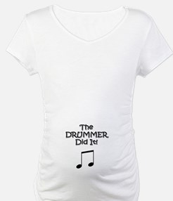 DAD DRUMMER - Shirt - w/b