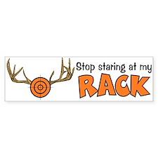 Staring At My Rack Bumper Bumper Sticker