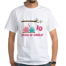 10th Anniversary Owl Couple T-Shirt