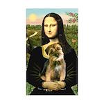 Mona & Border Terri Sticker (Rectangle)