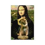 Mona & Border Terri Rectangle Magnet (10 pack)