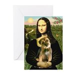 Mona & Border Terri Greeting Cards (Pk of 20)