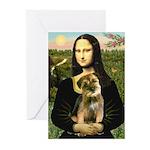 Mona & Border Terri Greeting Cards (Pk of 10)