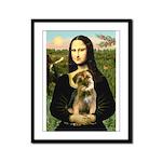 Mona & Border Terri Framed Panel Print