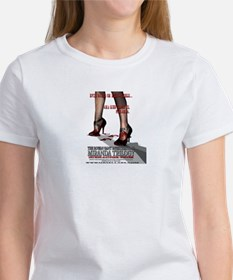 EVIL WALKS ON HIGH-HEELS Women's T-Shirt