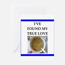 minestrone Greeting Cards