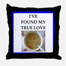 minestrone Throw Pillow