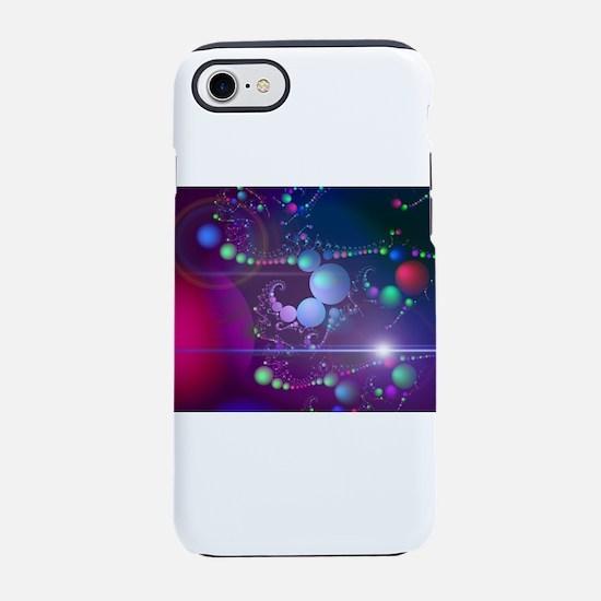 Cool Colored Fractal Bubbles iPhone 8/7 Tough Case