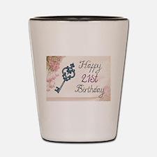 Happy 21st Birthday (Vintage) Shot Glass