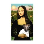 Mona & Fox Terrier Sticker (Rectangle)