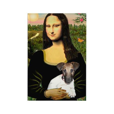 Mona & Fox Terrier Rectangle Magnet (10 pack)