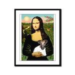 Mona & Fox Terrier Framed Panel Print