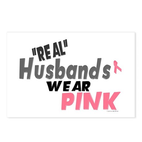 """Real"" Husbands Wear Pink 1 Postcards (Package of"