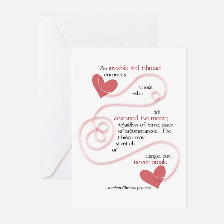 Invisible Red Thread Greeting Cards (Pk of 20)