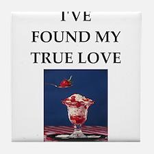 ice cream sundae Tile Coaster
