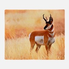Lone Antelope Throw Blanket