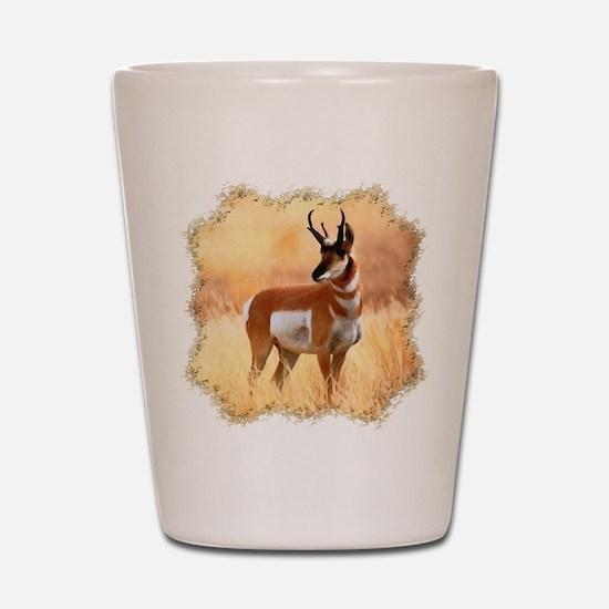 Lone Antelope Shot Glass