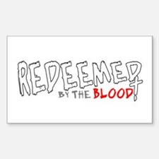 Redeemed by the Blood Rectangle Decal