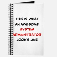 awesome system administrator Journal