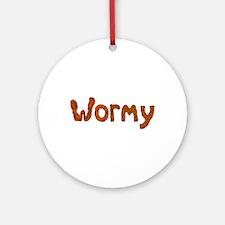 Wormy Round Ornament