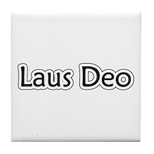 """Laus Deo"" Tile Coaster"