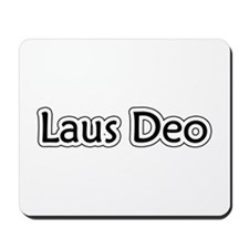 """Laus Deo"" Mousepad"