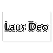 """Laus Deo"" Rectangle Decal"