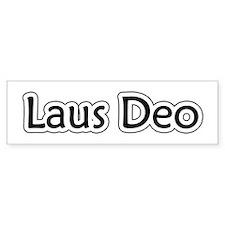 """""""Laus Deo"""" Bumper Bumper Sticker"""